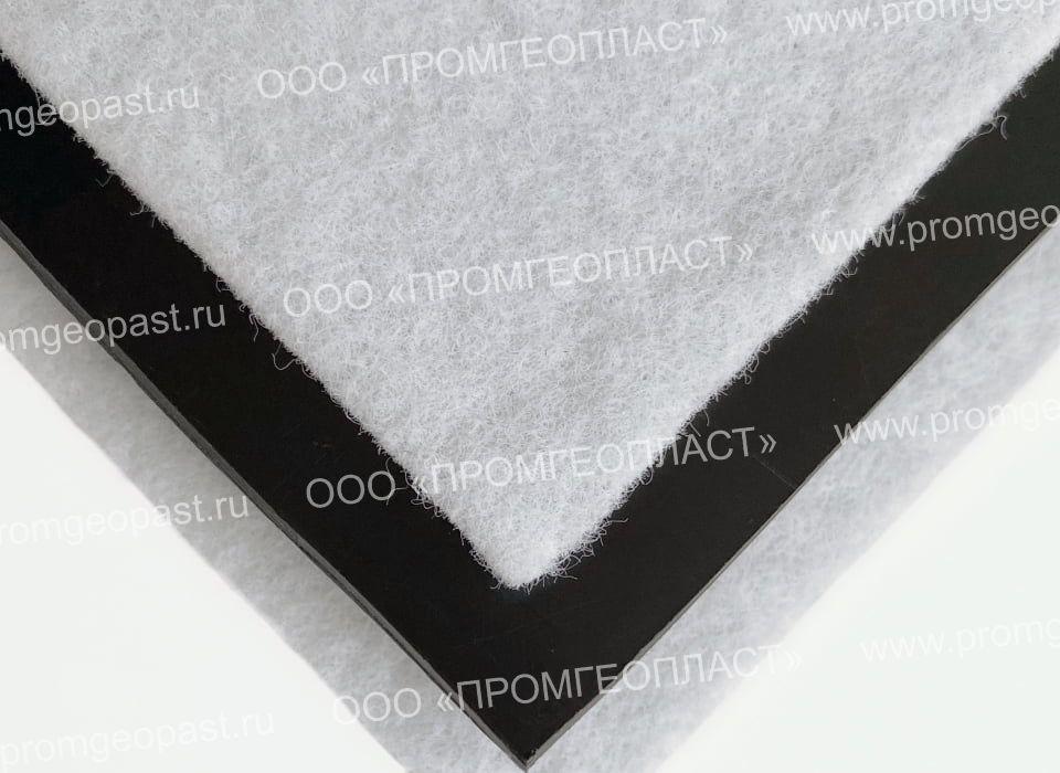 геомембрана склееная с геотекстилем с двух сторон
